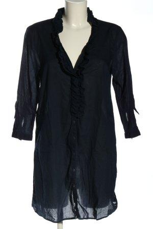 Zara Woman Long-Bluse blau Casual-Look