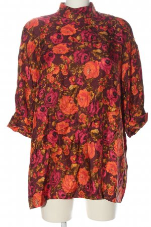 Zara Woman Long-Bluse Allover-Druck Elegant