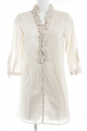 Zara Woman Long-Bluse creme Elegant