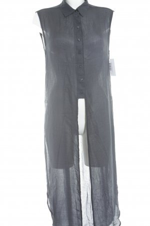 Zara Woman Long-Bluse dunkelblau Streifenmuster Casual-Look