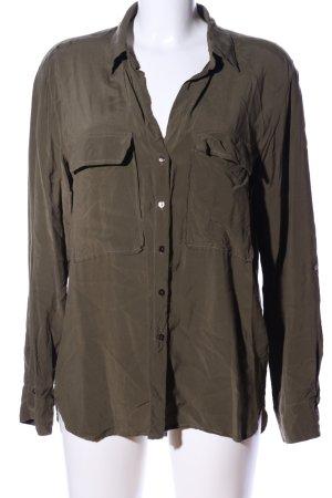 Zara Woman Long-Bluse khaki Casual-Look