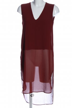 Zara Woman Long-Bluse rot Casual-Look