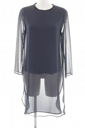Zara Woman Long-Bluse schwarz-dunkelblau Business-Look