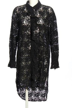Zara Woman Long-Bluse schwarz Casual-Look