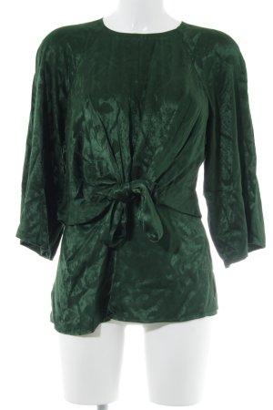 Zara Woman Long-Bluse waldgrün Schimmer-Optik