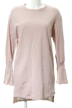 Zara Woman Długi sweter stary róż W stylu casual