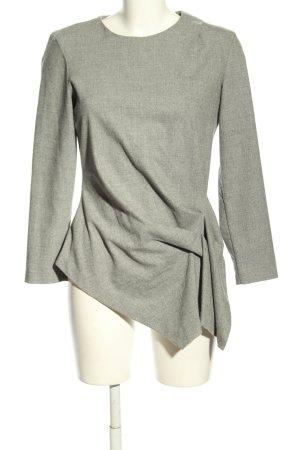 Zara Woman Longshirt hellgrau meliert Business-Look