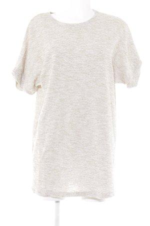 Zara Woman Longshirt wollweiß-limettengelb meliert Casual-Look