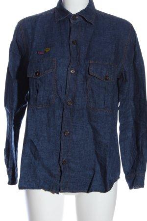 Zara Woman Camicia denim blu stile casual