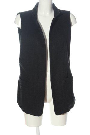 Zara Woman Longstrickweste schwarz Casual-Look