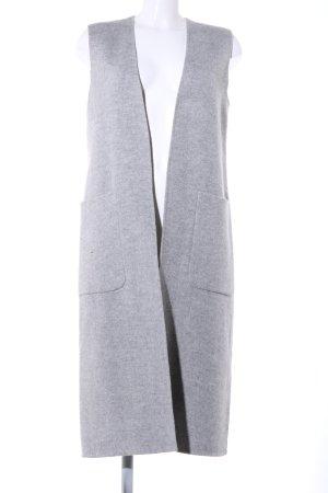 Zara Woman Lang gebreid vest lichtgrijs gestippeld casual uitstraling
