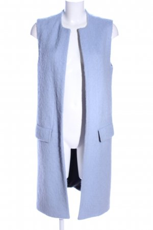 Zara Woman Cardigan lungo smanicato blu stile casual