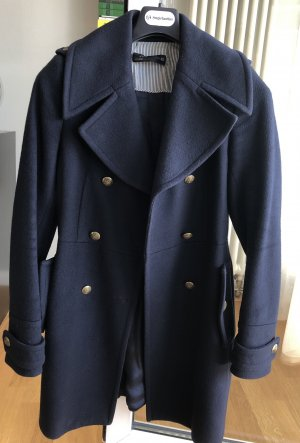 Zara Wool Coat dark blue