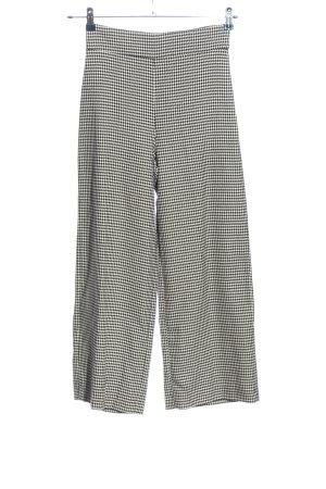 Zara Woman Marlenehose schwarz-weiß Allover-Druck Casual-Look