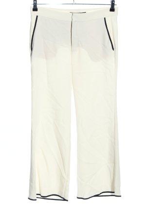 Zara Woman Pantalon Marlene blanc cassé-noir style décontracté