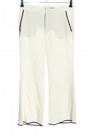 Zara Woman Marlene Trousers natural white-black casual look