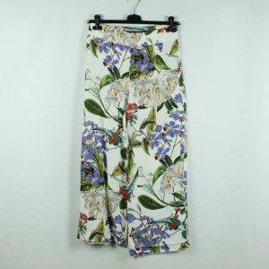 Zara Woman Pantalone Marlene multicolore Viscosa