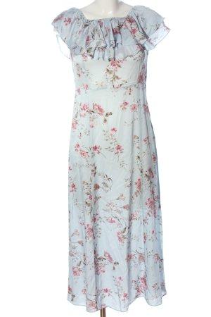 Zara Woman Maxikleid Allover-Druck Casual-Look