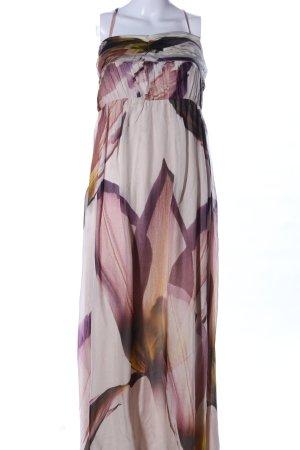 Zara Woman Maxikleid abstraktes Muster extravaganter Stil