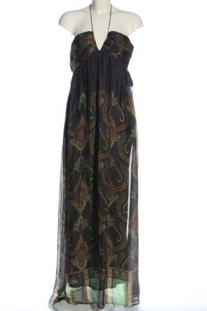 Zara Woman Maxikleid abstraktes Muster Elegant