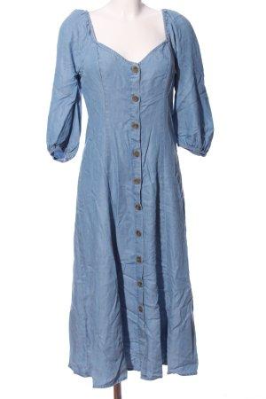 Zara Woman Maxikleid blau Casual-Look