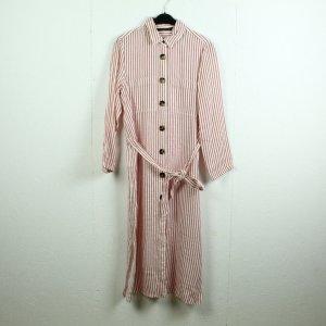 Zara Woman Abito blusa camicia bianco-rosso mattone