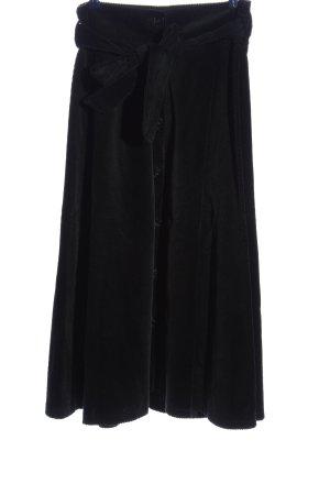Zara Woman Jupe longue noir motif rayé style décontracté