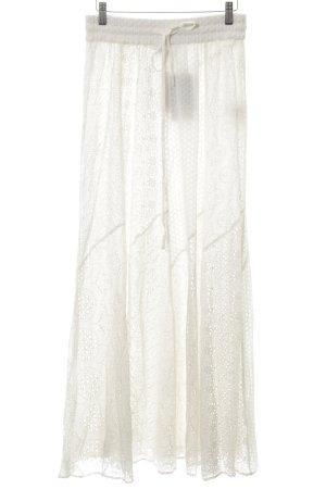 Zara Woman Maxirock wollweiß Casual-Look