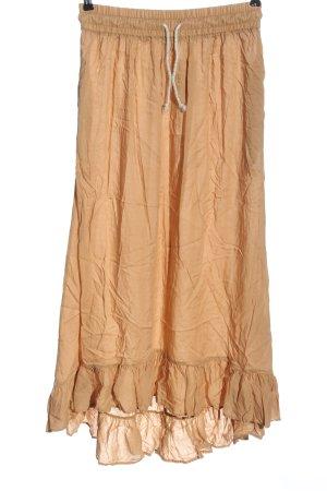 Zara Woman Jupe longue rose chair style décontracté