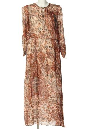 Zara Woman Midikleid Allover-Druck Casual-Look