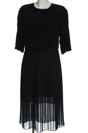 Zara Woman Midikleid schwarz Casual-Look