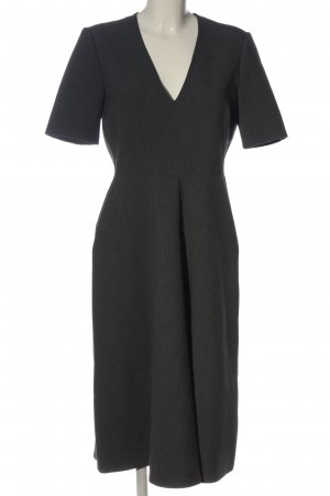 Zara Woman Midikleid hellgrau meliert Business-Look