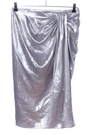 Zara Woman Spódnica midi srebrny Błyszczący