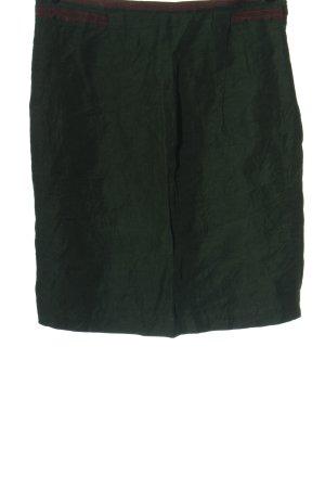 Zara Woman Spódnica midi khaki-brąz Wzór w paski W stylu casual