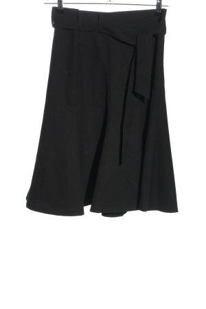 Zara Woman Spódnica midi czarny W stylu biznesowym