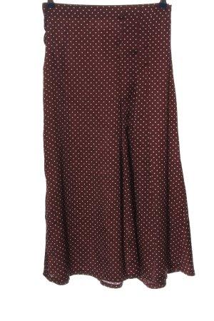 Zara Woman Spódnica midi różowy-w kolorze białej wełny Wzór w kropki