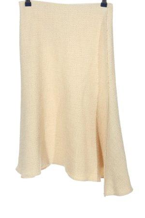 Zara Woman Spódnica midi w kolorze białej wełny Wzór w paski W stylu casual