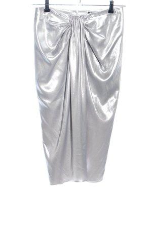 Zara Woman Midirock silberfarben Elegant