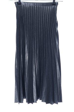 Zara Woman Midirock blau Casual-Look