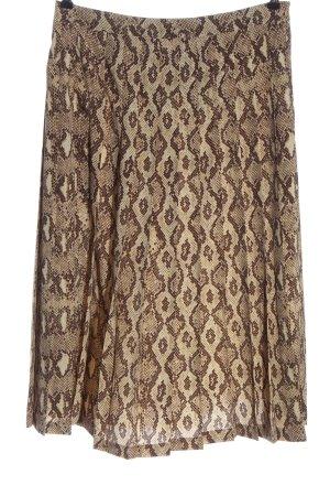 Zara Woman Spódnica midi brązowy-w kolorze białej wełny W stylu casual