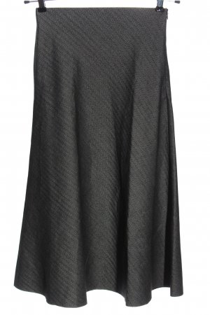 Zara Woman Spódnica midi jasnoszary Wzór w paski W stylu casual