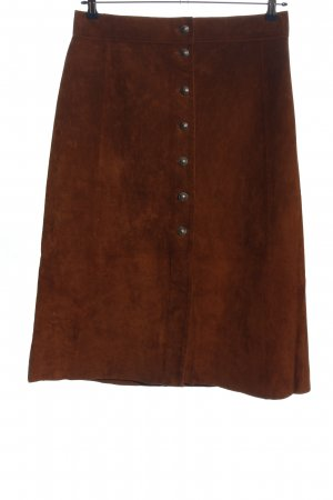 Zara Woman Midirock braun Casual-Look
