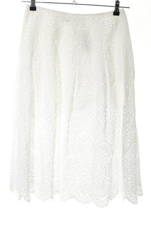 Zara Woman Midirock weiß Casual-Look