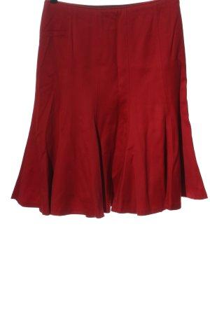 Zara Woman Spódnica midi czerwony Wzór w paski W stylu casual