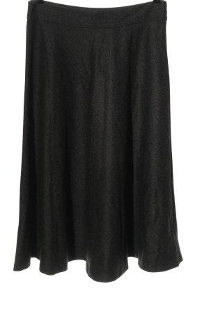 Zara Woman Spódnica midi jasnoszary Melanżowy W stylu casual