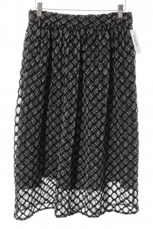 Zara Woman Midirock schwarz-weiß Casual-Look