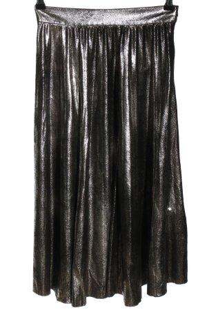 Zara Woman Spódnica midi srebrny Z połyskiem