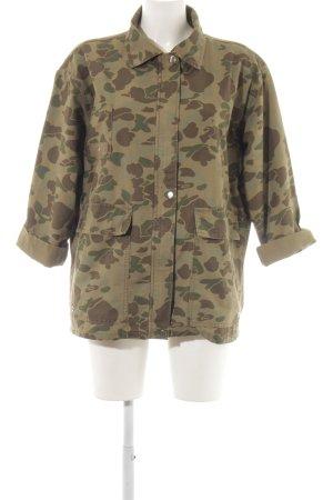 Zara Woman Militaryjacke khaki-braun Camouflagemuster Casual-Look