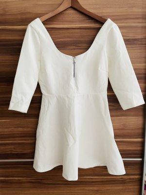 Zara Woman Mini Kleid Gr. L weiß
