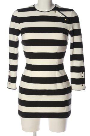 Zara Woman Minikleid schwarz-weiß Streifenmuster Casual-Look